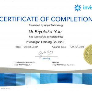 インビザライン矯正 Training  Course  in  福岡