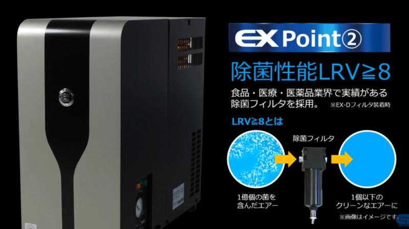 冷凍式エアードライヤ・EXドライヤ